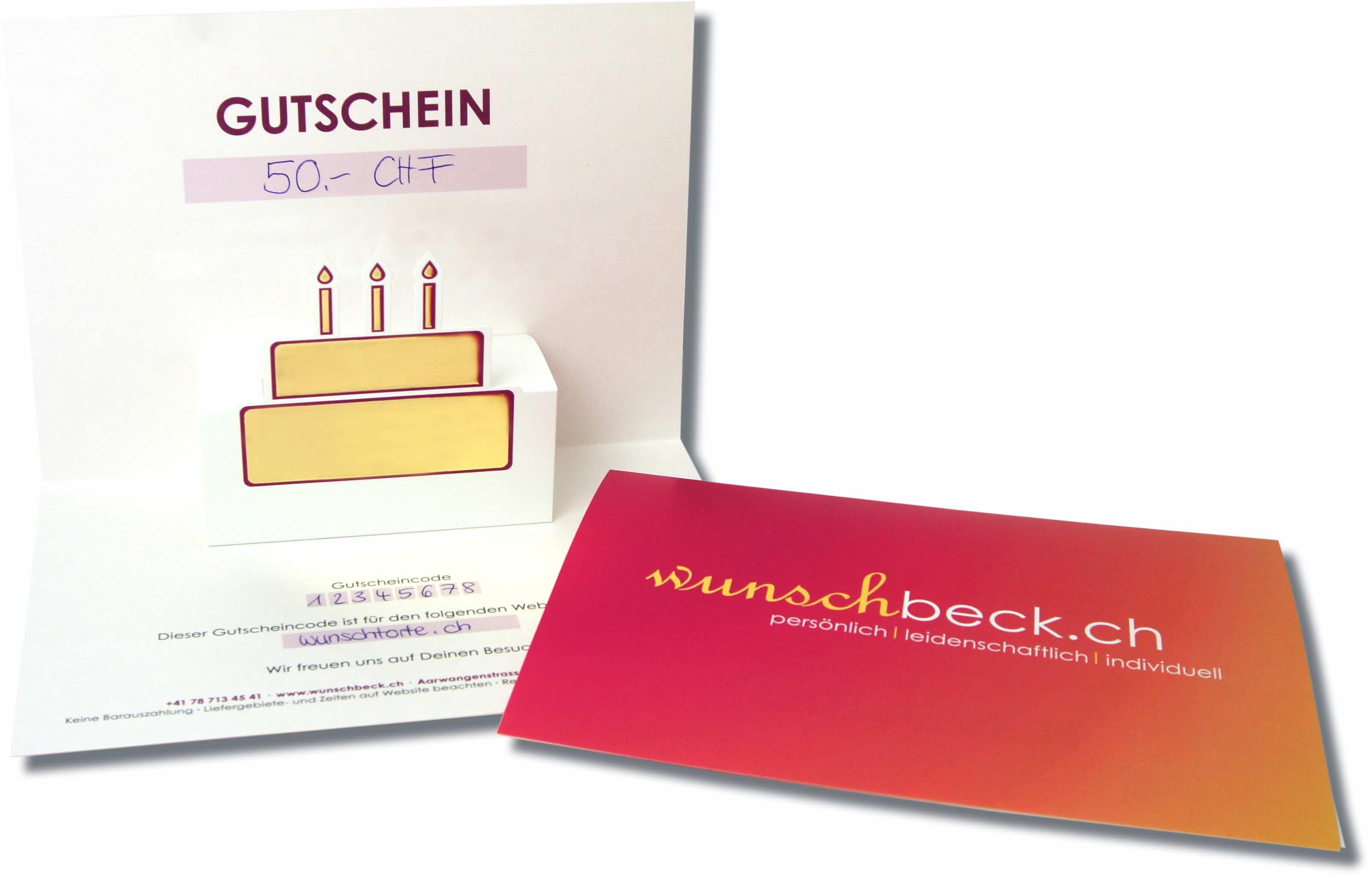 Wunschbeck Gutschein CHF 50.-
